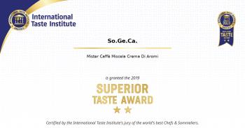 2019: Superior Taste Award, International Taste Institute Bruxelles - Miscela Crema di Aromi (7)